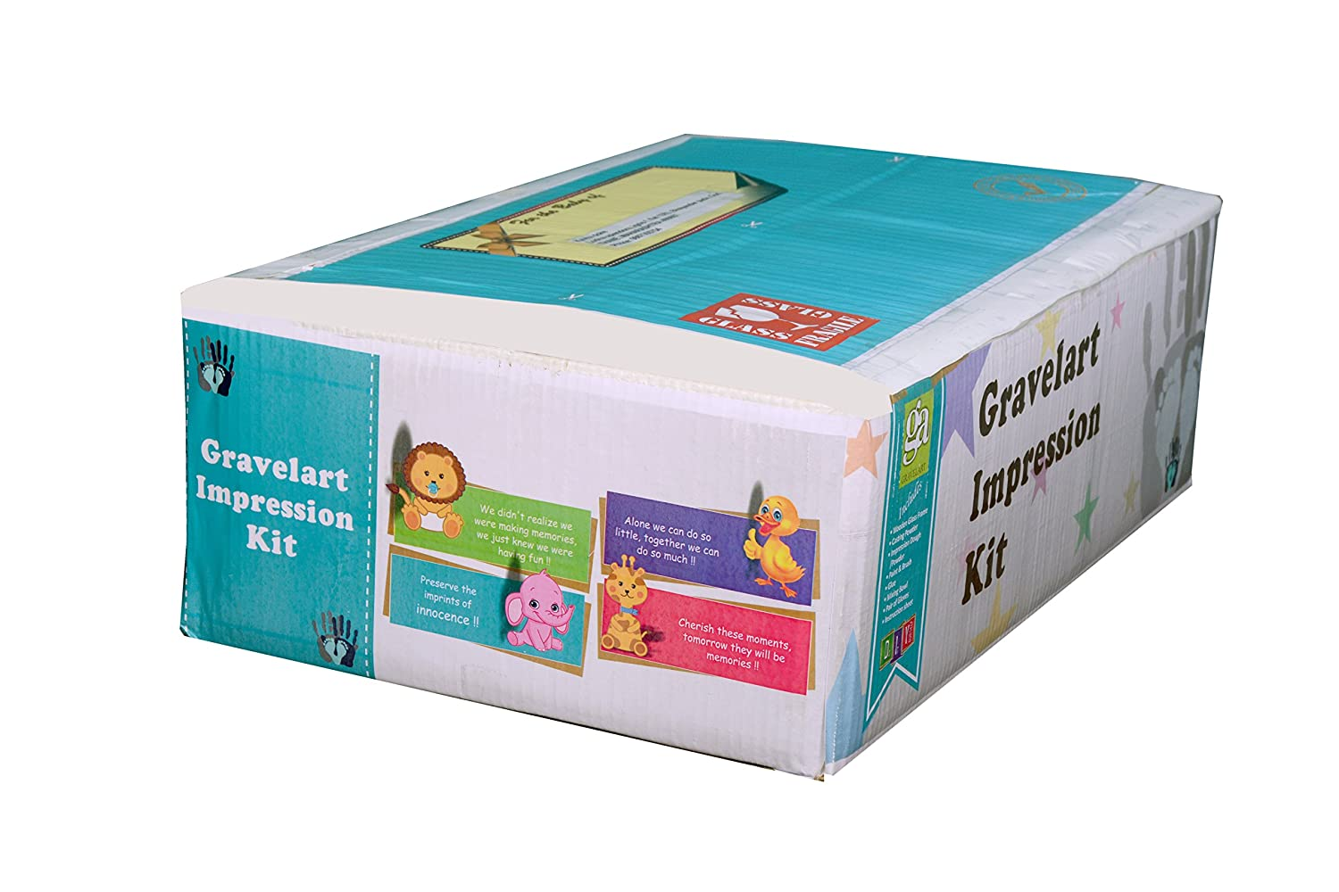 Buy gravelart baby impression kit do it yourself baby girl buy gravelart baby impression kit do it yourself baby girl online at low prices in india amazon solutioingenieria Choice Image