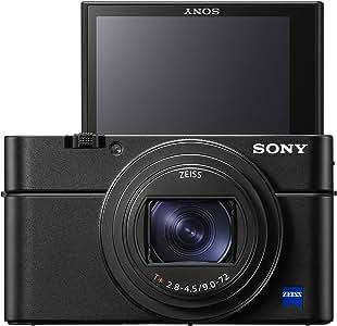 Sony DSC-RX100M7 VII Digital Camera with CMOS Sensor, BIONZ X, 20.1 MP, 8x Optical Zoom, Black