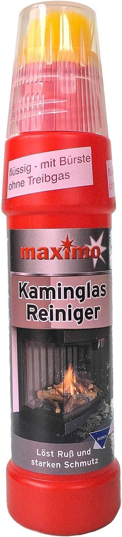 Kaminscheibenreiniger Maximo Hochergiebig mit integrierter B/ürste Power Activ-Gel gegen hartn/äckigste Verschmutzungen wie Ru/ß und Eingebranntes 01