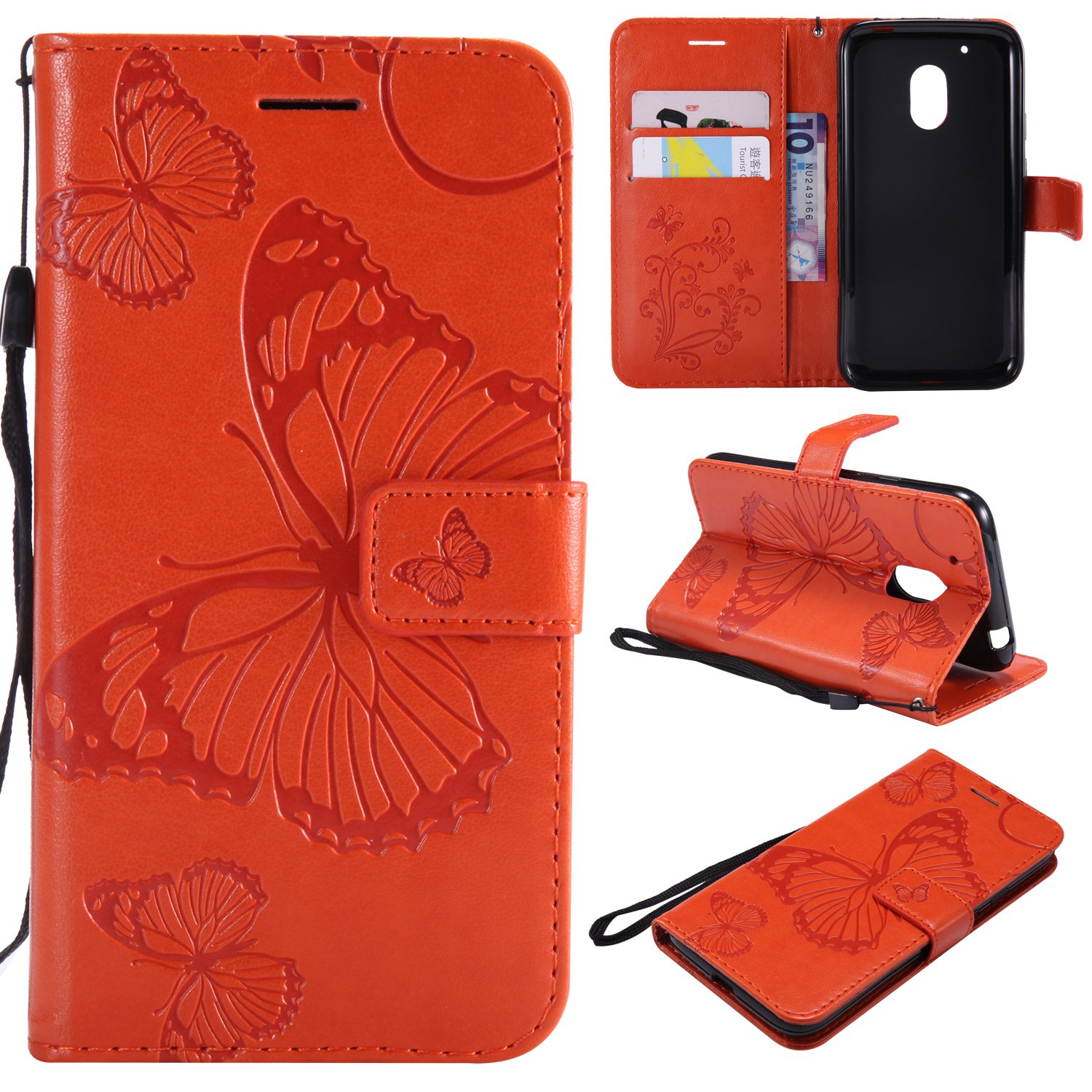 newest d0cb7 afe46 Amazon.com: ARSUE Moto G4 Play Case,Moto G4 Play Wallet Case,Leather ...