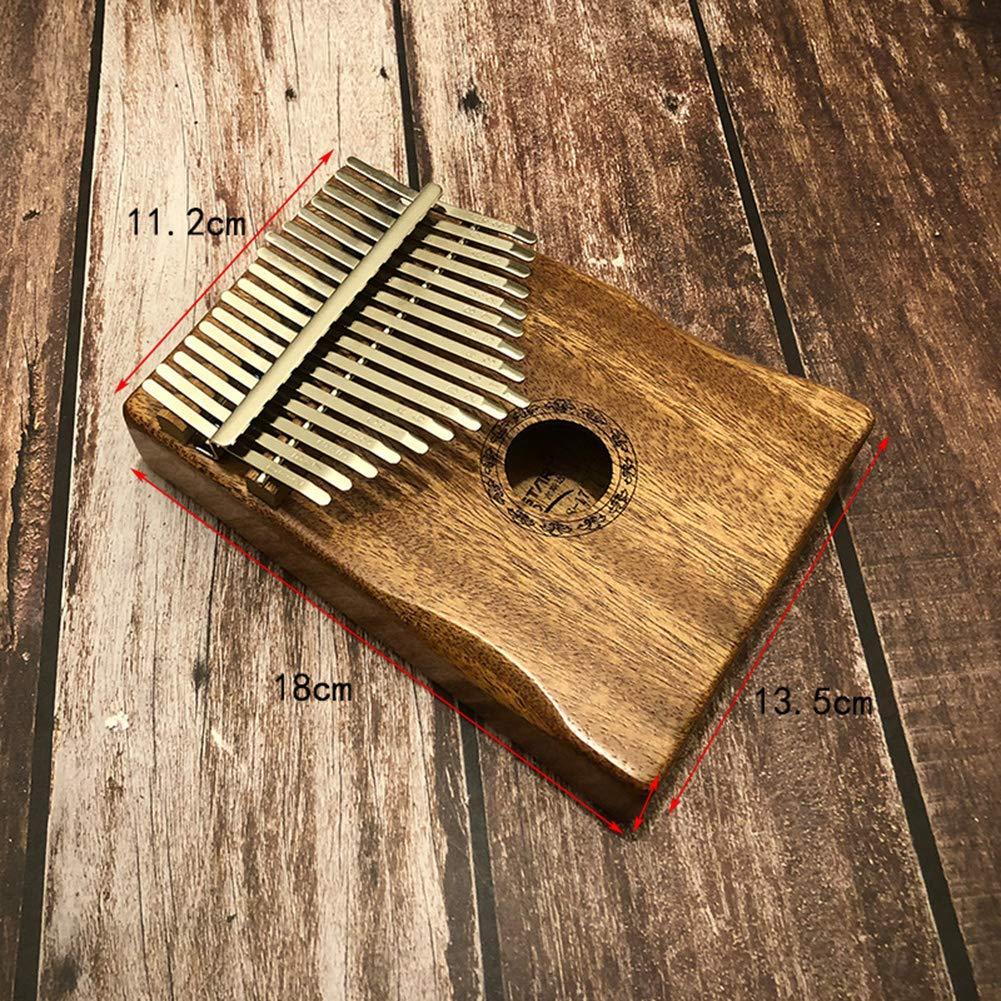 HshDUti 17 Schl/üssel Finger Kalimba Mbira Daumen Klavier Taschenformat Holz Musikinstrument Geschenk Wood