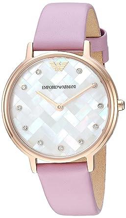 81333ba645 Amazon.com: Emporio Armani Women's Stainless Steel Quartz Watch with ...