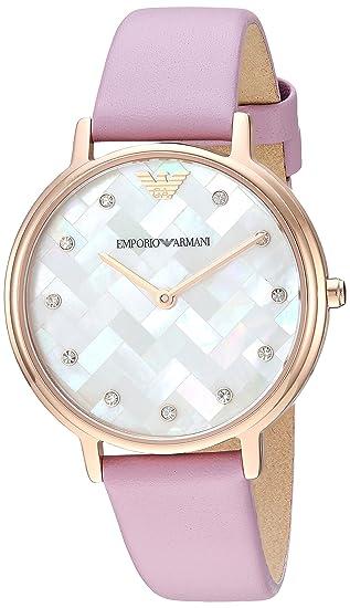 c314de659b Image Unavailable. Image not available for. Colour: Emporio Armani Analog  Multi-Colour Dial Women's Watch ...