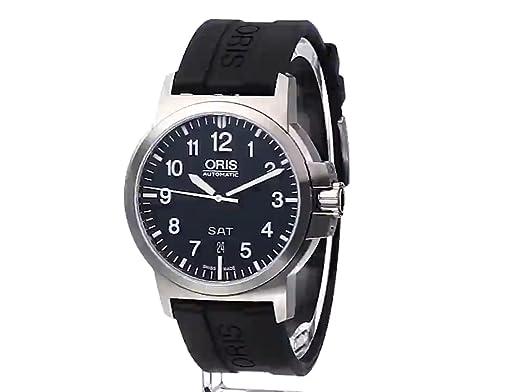 Amazon.com: Oris Mens 73576414164RS BC3 Rubber Strap Black Dial Watch: Oris: Watches