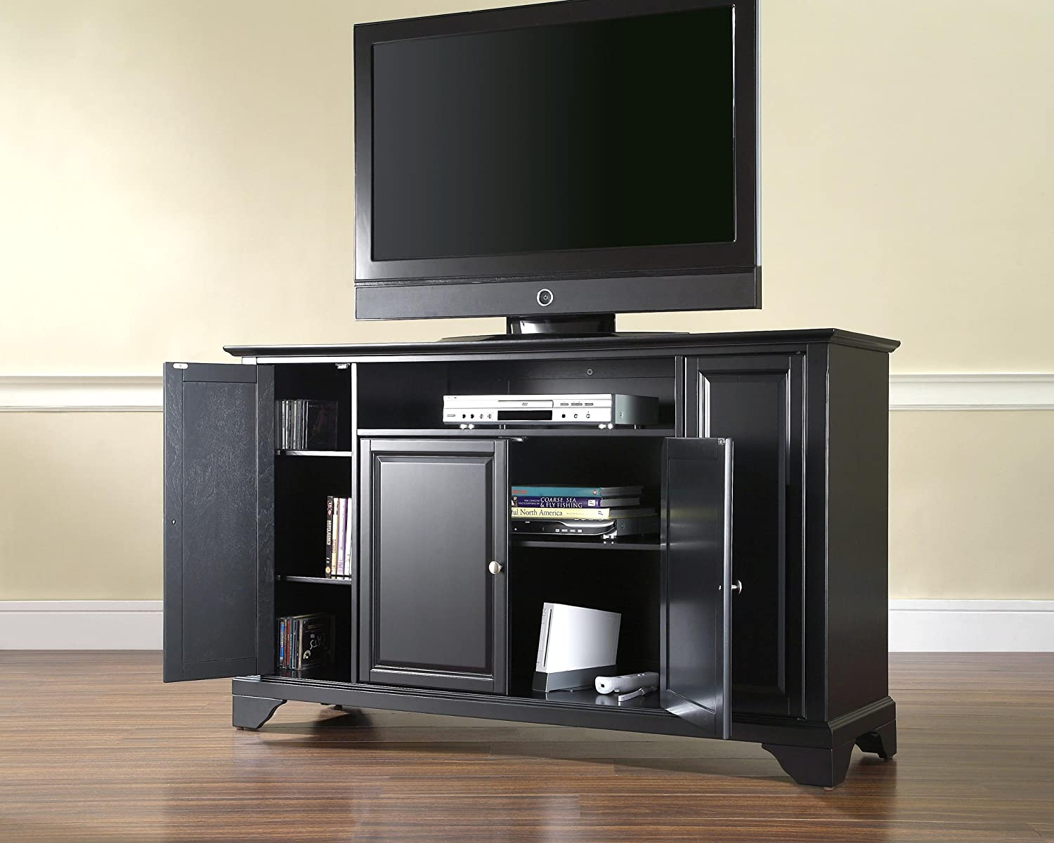 Amazon.com: Crosley Furniture LaFayette 60 Inch TV Stand   Black: Kitchen U0026  Dining