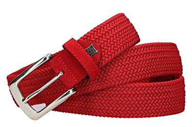 59087dad78bf5a Laura Biagiotti Gürtel Herren rot Made IN Italy Seil elastischen 113 cm  R6025