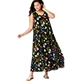 953f99c8511 Woman Within Women s Plus Size Sleeveless Crinkle A-Line Dress at ...