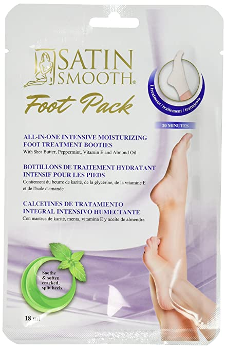 Amazon.com: SATIN SMOOTH 24 Piece Intensive Moisturizing Foot Mask Display: Health & Personal Care