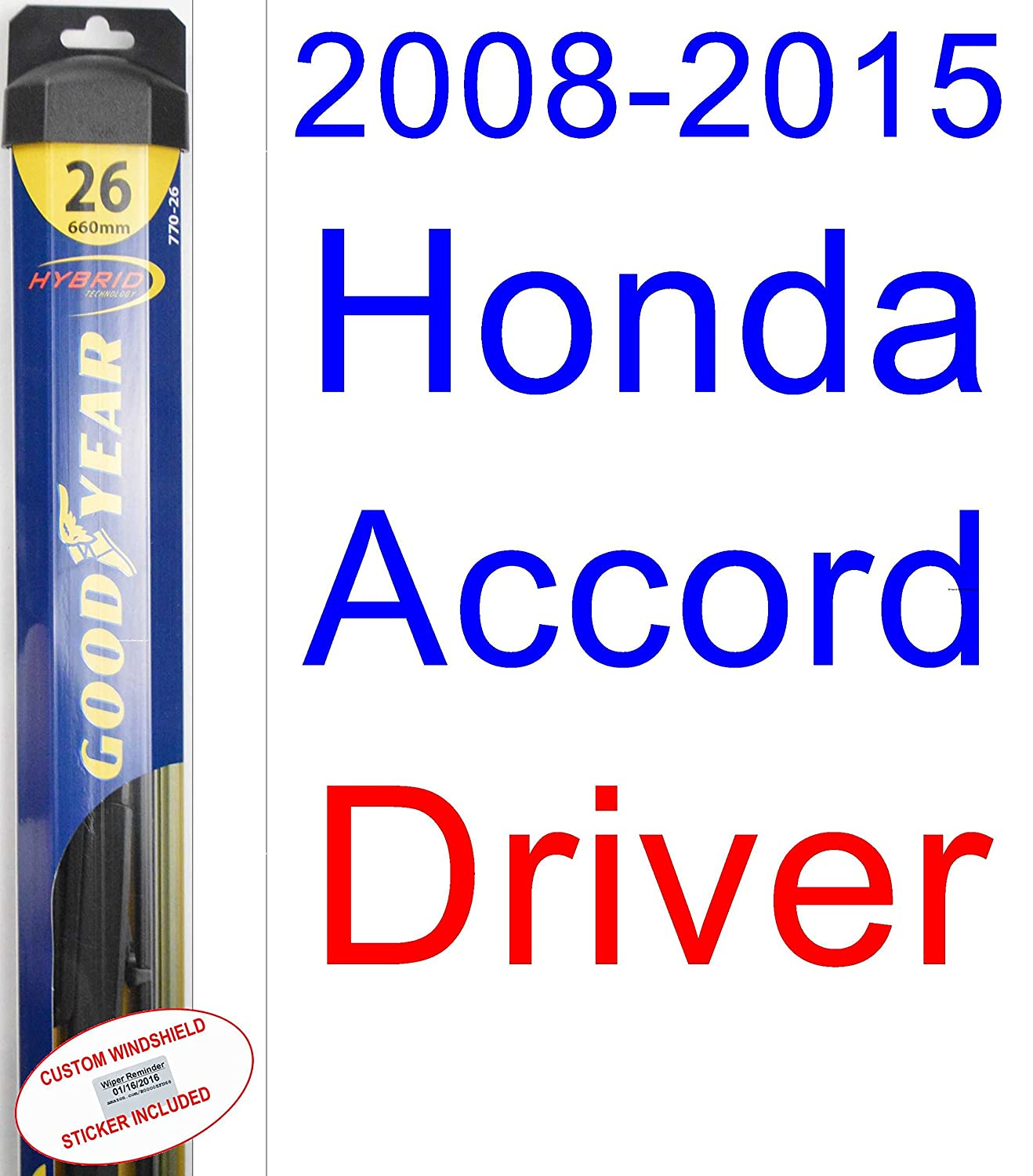 2008 2015 honda accord replacement wiper blade set kit