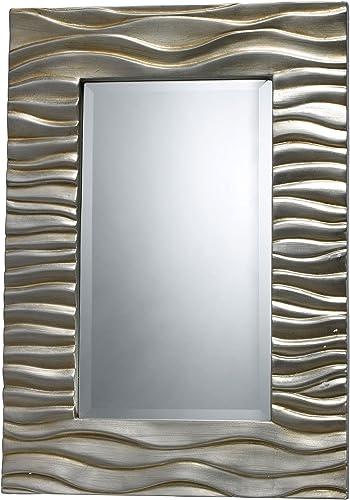 Sterling DM1927 Transcend Polyurethane Decorative Mirror, Silver Leaf with Black Antique