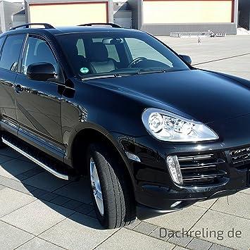 Techo Aluminio en Negro para Porsche Cayenne (Modelos a partir de 2003 con ABE Side de certificación TÜV de Nord | Baca Baca Roof Rail: Amazon.es: Coche y ...