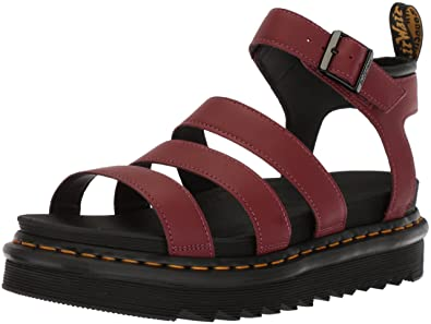 440213711 Dr. Martens Women s Blaire Fisherman Sandal Cherry Red Temperley Leather 4 Medium  UK (6