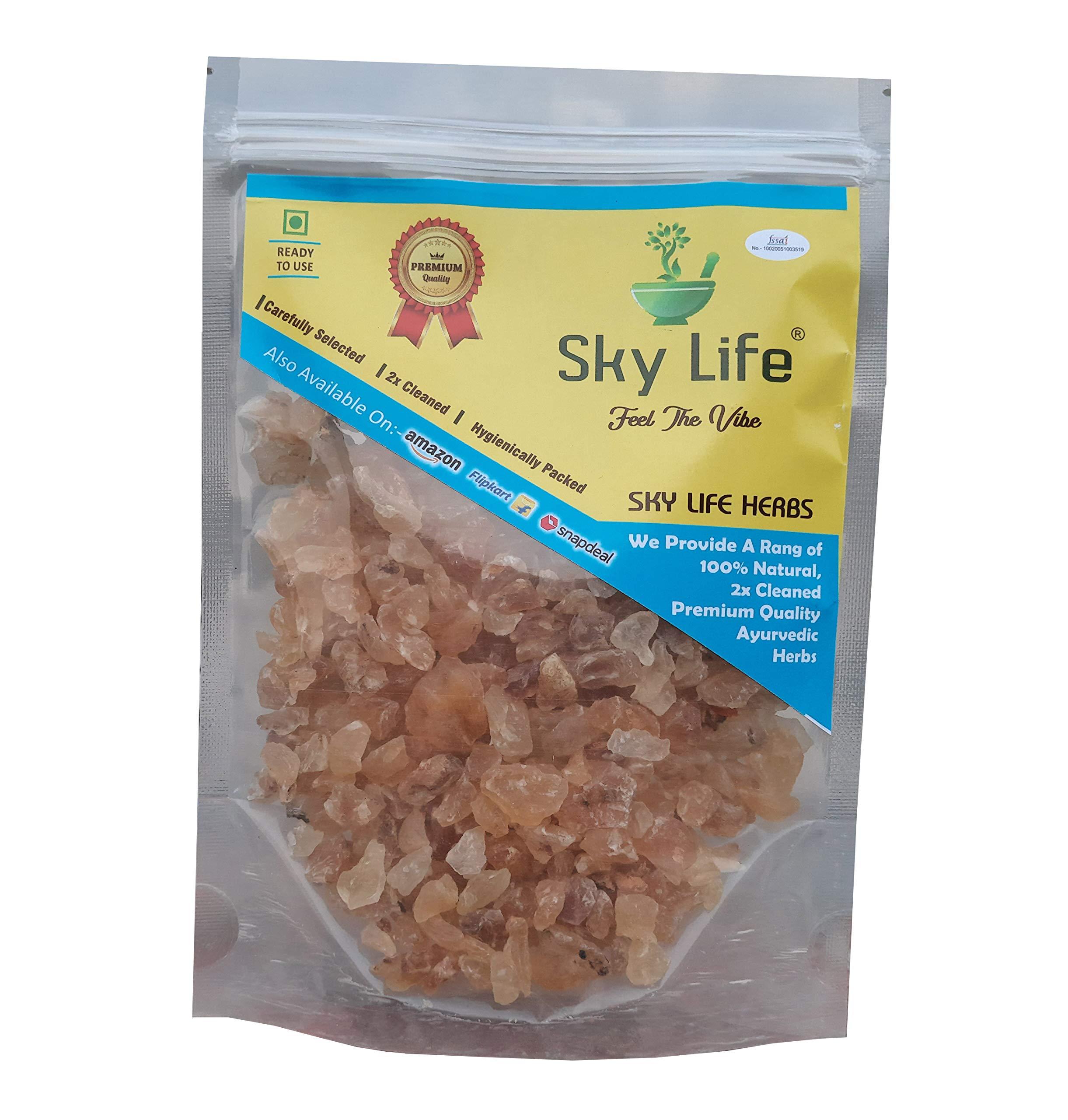 Sky life® Gond Katira - (100Grm) Tragacanth Gum - Kathila Gum - Kathila Gond - Dink Katora - Gaund Kani - गोंद कतीरा- Gum Edible - Gaund - Gondh Katira