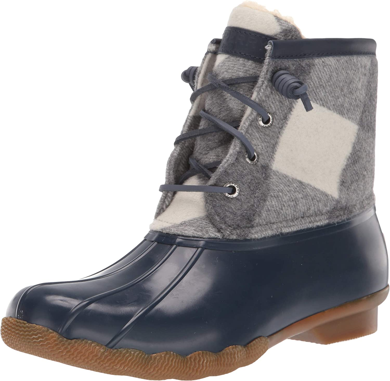 Sperry Women's Saltwater Buffalo Check Boots
