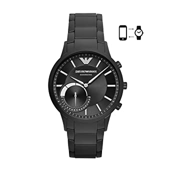 Buy Emporio Armani Men s ART3001 Black Connected Hybrid Smartwatch Online  at Low Prices in India - Amazon.in 0fa21c74fd9