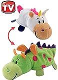 "FlipaZoo's Little FlipZee 5"" Pocket Size Plush Figure - Unicorn Transforming To Dragon (the Toy That Flips For You)"