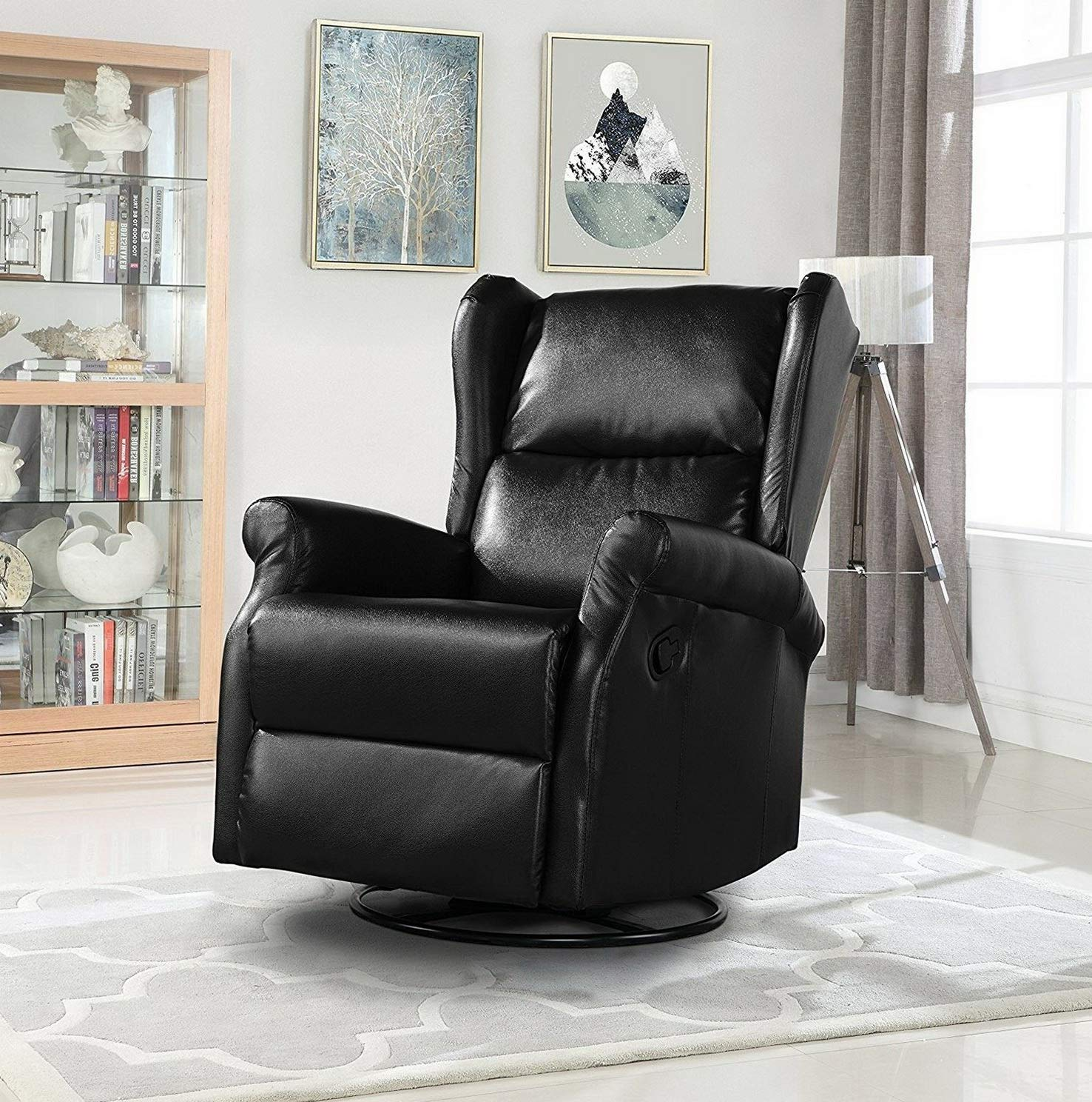 Pleasing Amazon Com Mikash Reclining Swivel Accent Chair For Living Ncnpc Chair Design For Home Ncnpcorg