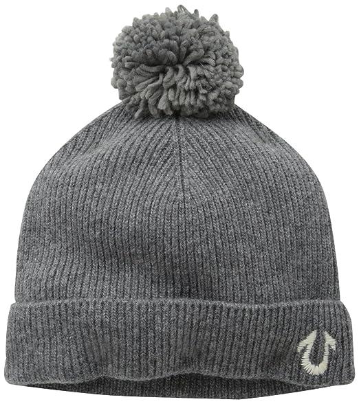 cc4055f063ff1 Amazon.com  True Religion Men s Knit Watchcap W Pom