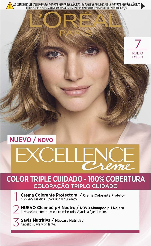 LOréal Paris Excellence Creme Tinte Tono 7 Rubio - 50 ml