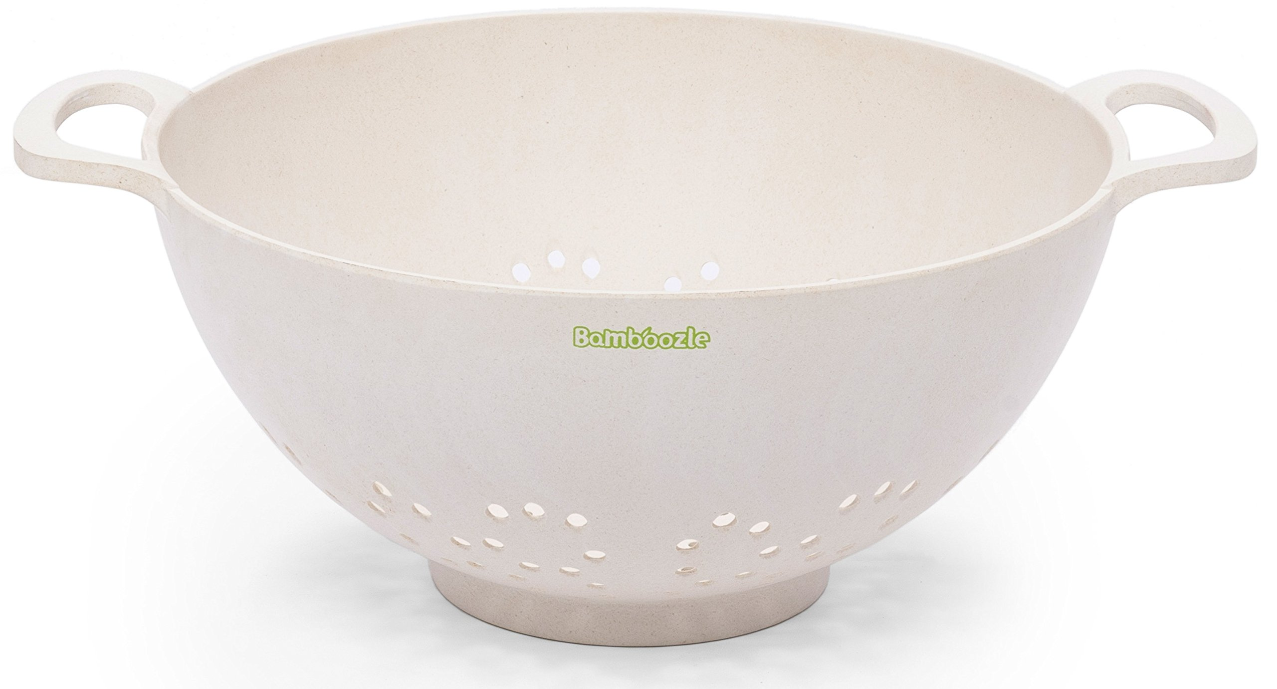 Bamboozle Colander with Handles, 9 1/4'', Natural by Bamboozle