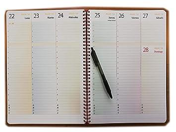 Agenda vista semanal A4 21x30cm - bloc espiral - 1 SEMANA EN ...