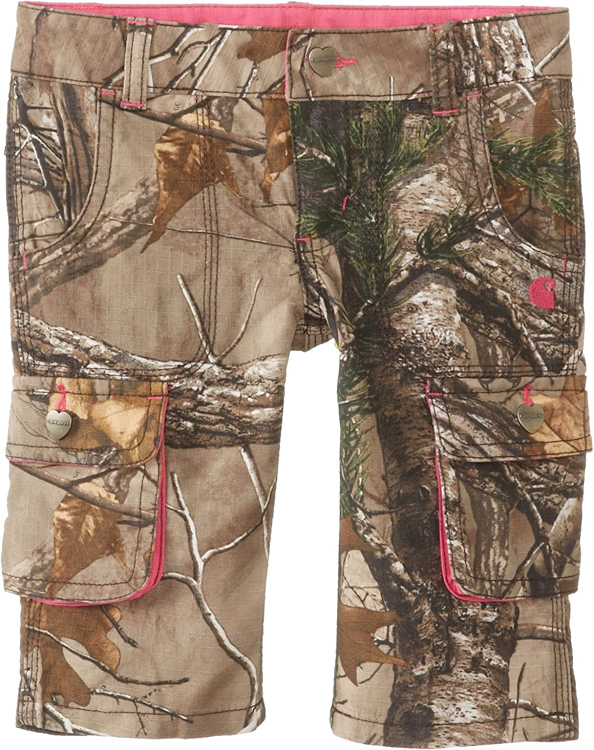 Carhartt Little Girls Washed Camo Cropped Pant Realtree Xtra 3T Carhartt Girls 2-6x
