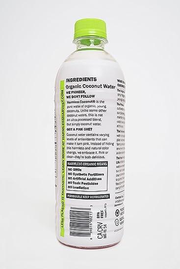 Amazon Harmless Harvest Organic Coconut Water Original 16oz Pack Of 12 Grocery Gourmet Food