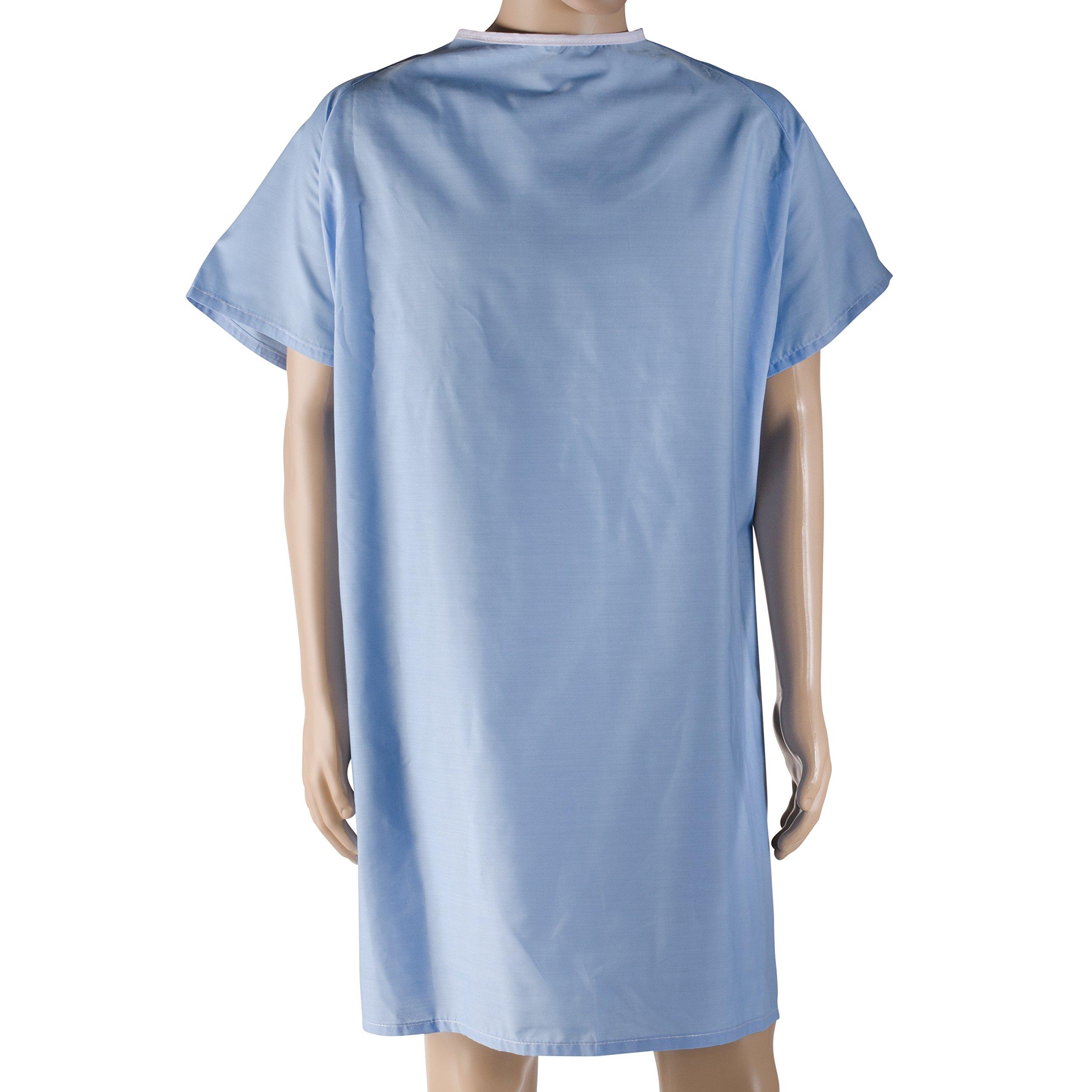 Amazon.com: DMI Hospital Gown, Easy Access Patient Gown, Blue ...