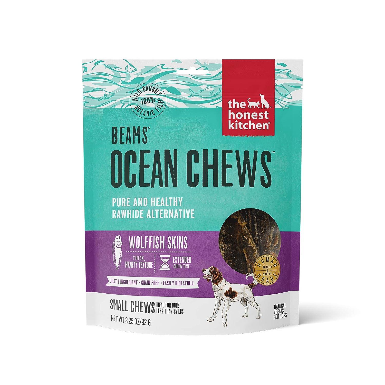 The Honest Kitchen Beams Grain-Free Dog Chew Treats - Natural Human Grade Dehydrated Fish Skins