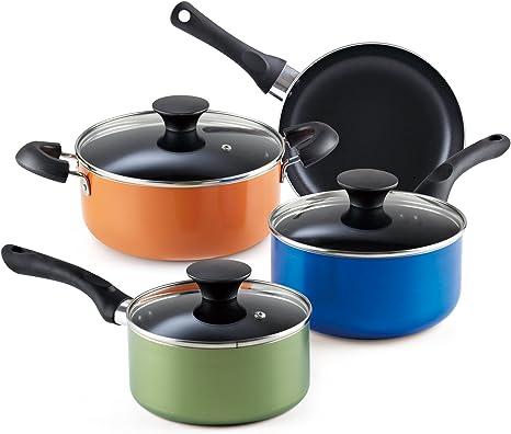 7 pcs Pan Set NATURE Saucepan Set Cookware Set Pot All Hob
