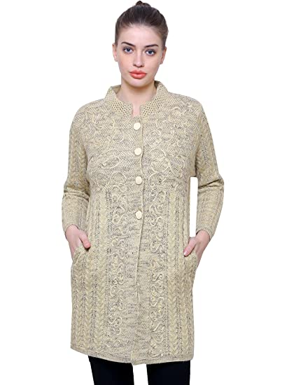 7eb9ea00b Matelco Women s Wool Embroidered Buttoned Long Cardigan (AD04CWP01BG ...