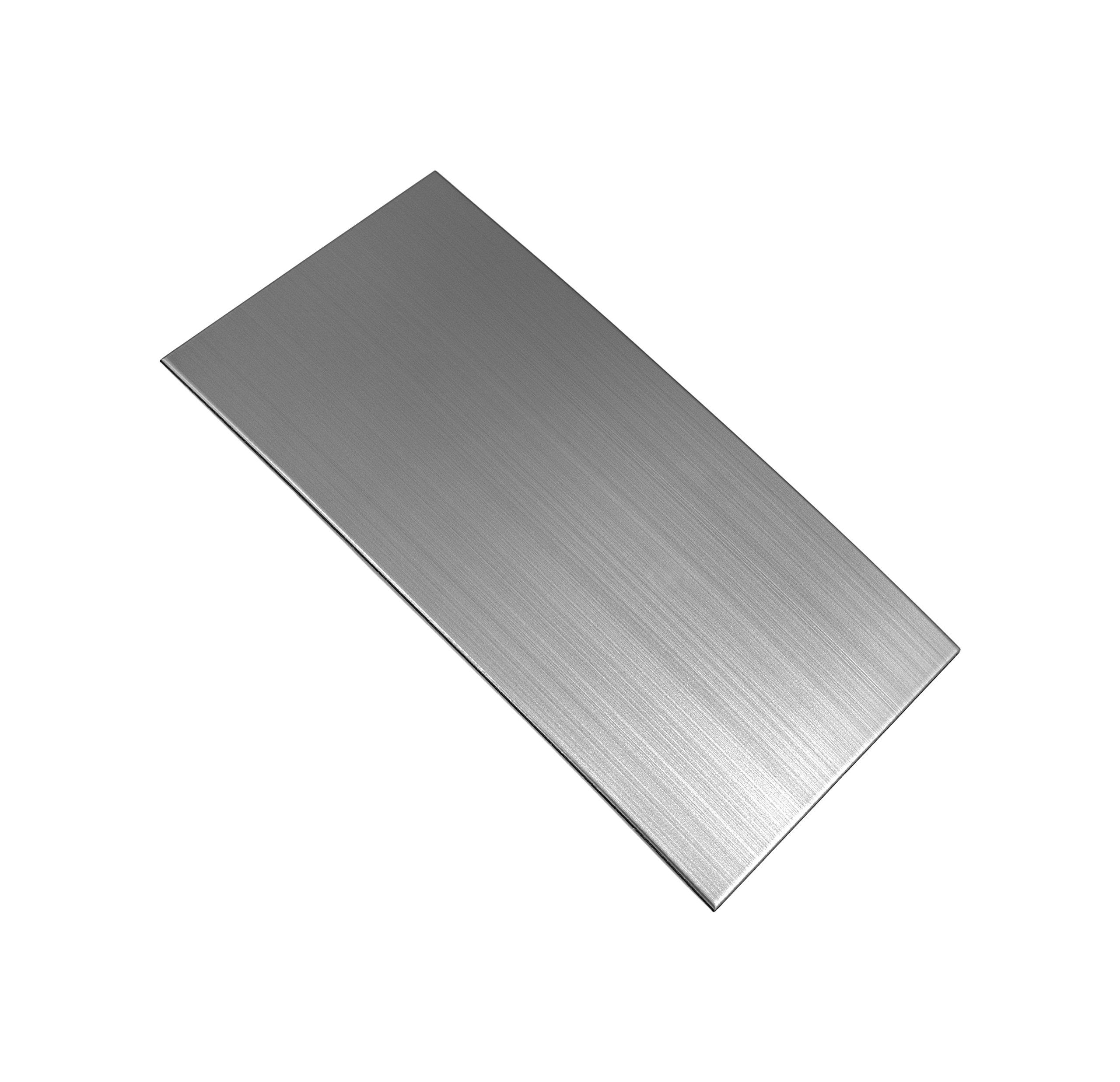 Ver Block Peel and Stick Design Stainless Steel DIY Interior Tile 20PCS (3.9 x 7.8 inch (20PCS), Brush Grey) by Ver Block