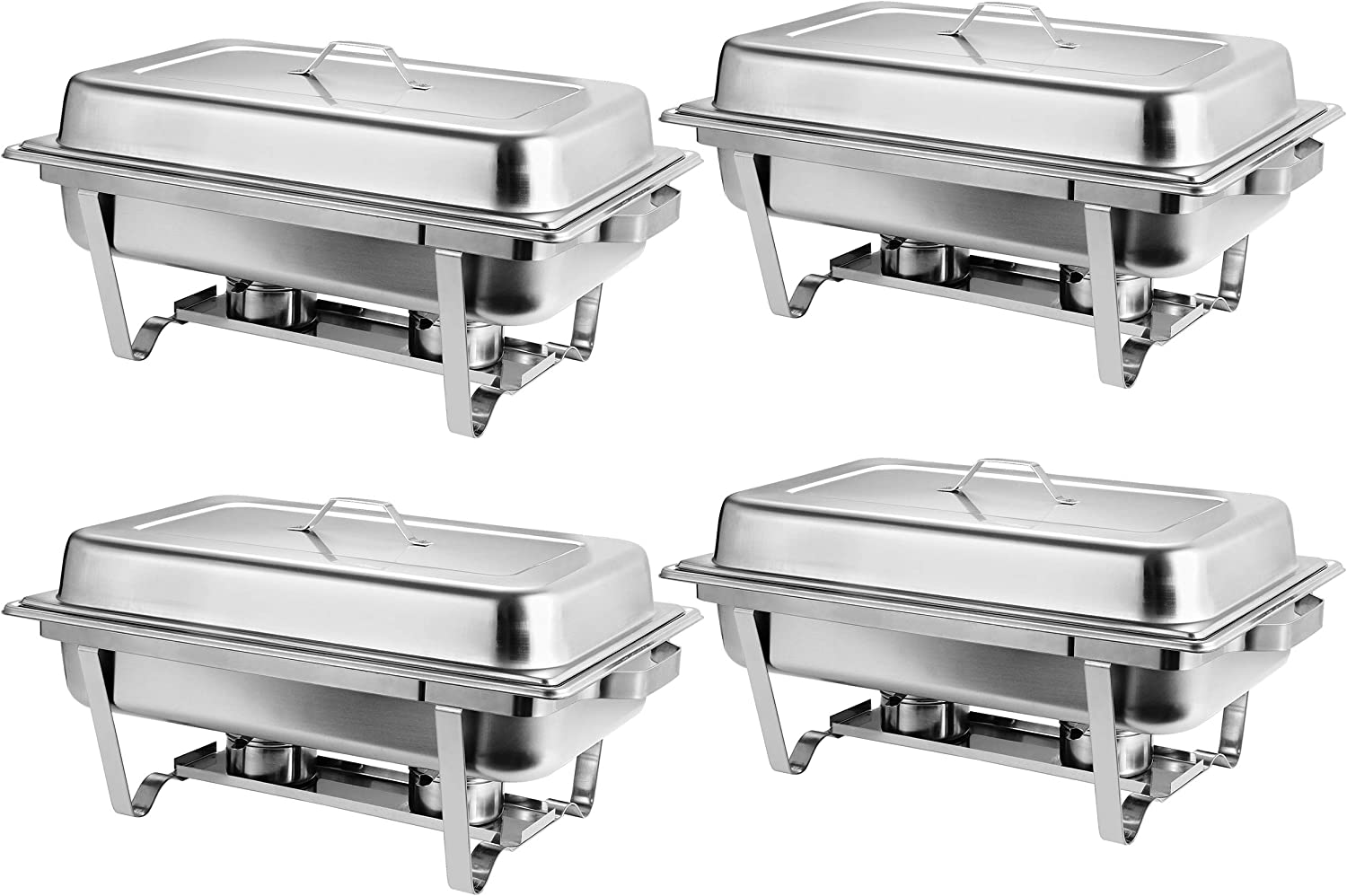 Buffet Trays Set of 4  Premier Chafers Stainless Steel Chafing Dish 8 Qt