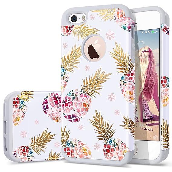 new arrival ef439 b44b7 Amazon.com: iPhone 5 case Pineapple,iPhone 5s case,iPhone SE case ...