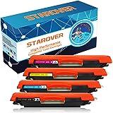 STAROVER 4x Compatible Color Toner Cartridges For HP 126A (CE310A CE311A CE312A CE313A) Fit For HP LaserJet Pro 100 color MFP M175 M175A M175nw / HP TopShot LaserJet Pro M275 M275NW MFP / HP LaserJet Pro CP1020 CP1025 CP1025nw / HP color LaserJet Pro MFP M176 M176FN M177 M177FW Printer (1 Black + 1 Cyan + 1 Magenta + 1 Yellow)