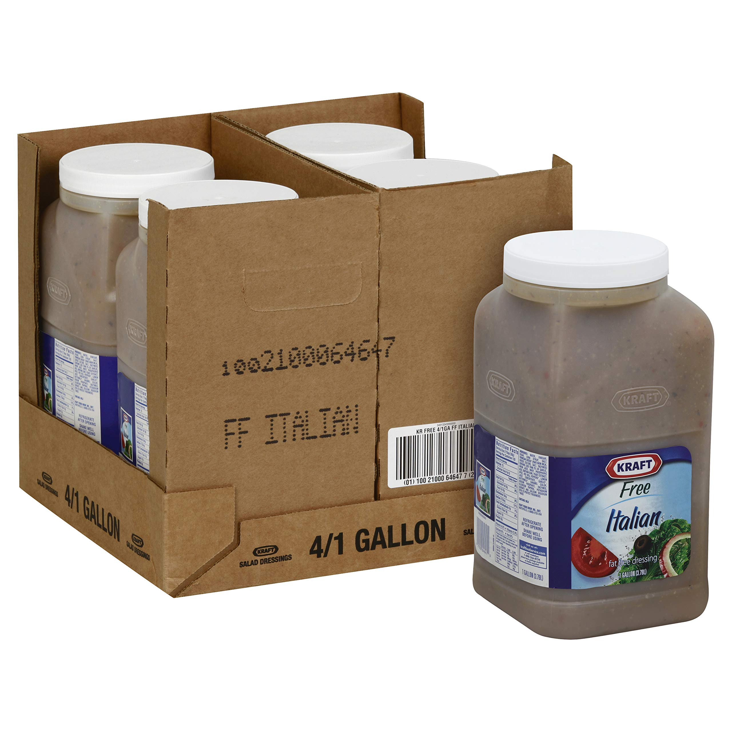 Dressing Kraft Free Italian 4 Case 1 Gallon by Kraft