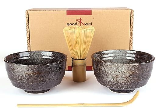 11 opinioni per Goodwei Set di Tè Matcha Giapponese- Due Tazze, frullino e cucchiaio di bambù