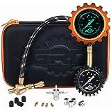 Rapid Air Down Tire Deflator Offroad Kit, PSI Tire Pressure Gauge [Glows in Dark] & Custom Foam Case + Chrome Caps…