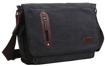 236027dc0f Image Unavailable. Image not available for. Colour  Zuolunduo Vintage  Messenger Bag Laptop Bag School Bag Canvas ...