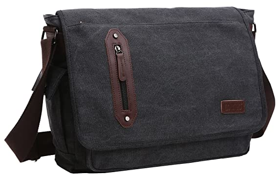 Amazon.com | ZUOLUNDUO Vintage Messenger Bag Laptop Bag School Bag ...