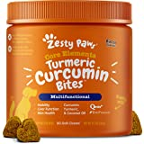 Zesty Paws Turmeric Curcumin for Dogs - with 95% Curcuminoids for Hip & Joint + Arthritis Support - Digestive & Mobility + Im