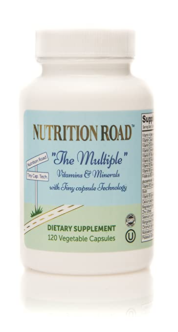 Nutrition Road Multi Vitamin and Minerals in Tiny Capsule Easy to Swallow 120 Vegetable Capsules