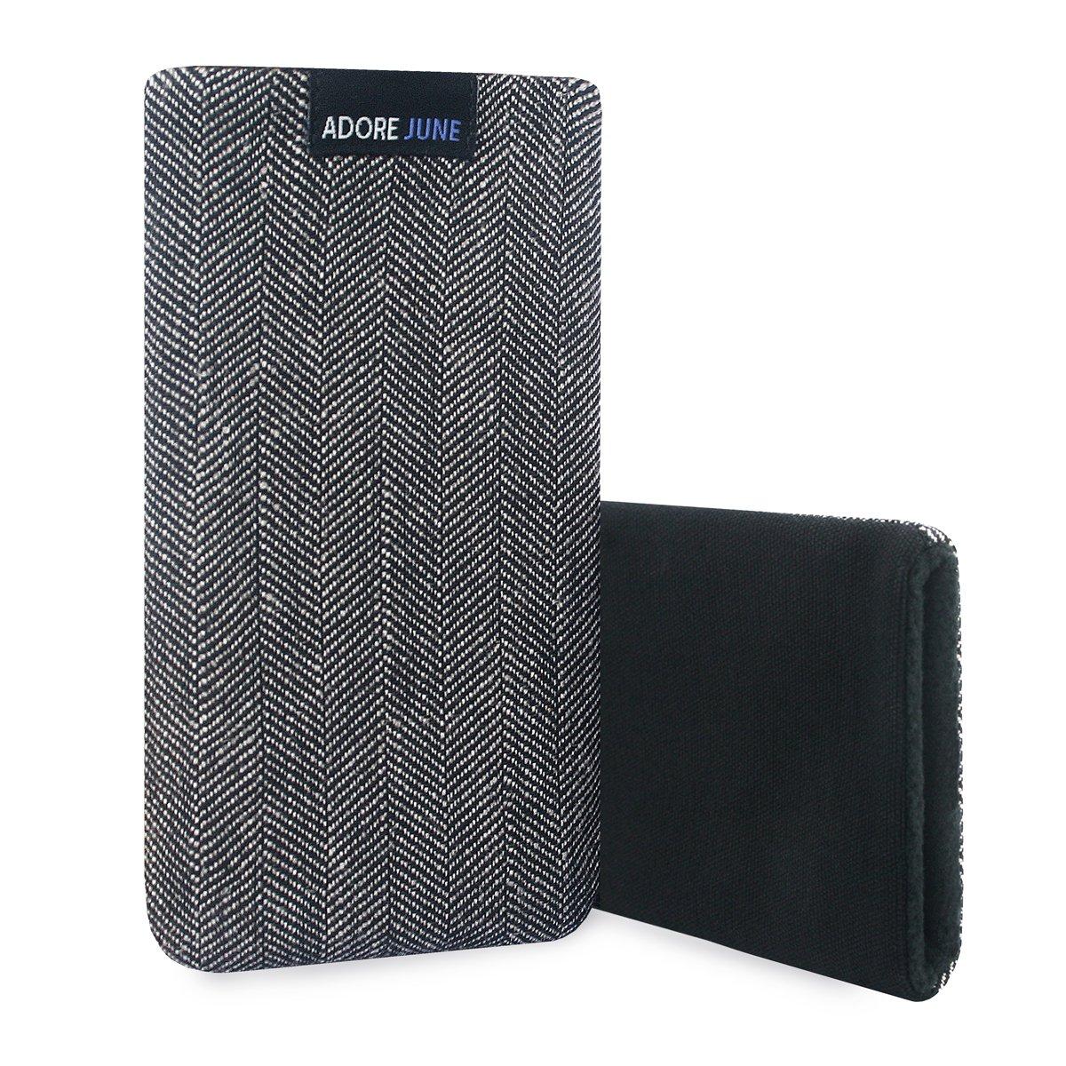 Materiale Caratteristico con Display di Pulizia Effetto Adore June Business Custodia per Samsung Galaxy A50 Grigio//Nero