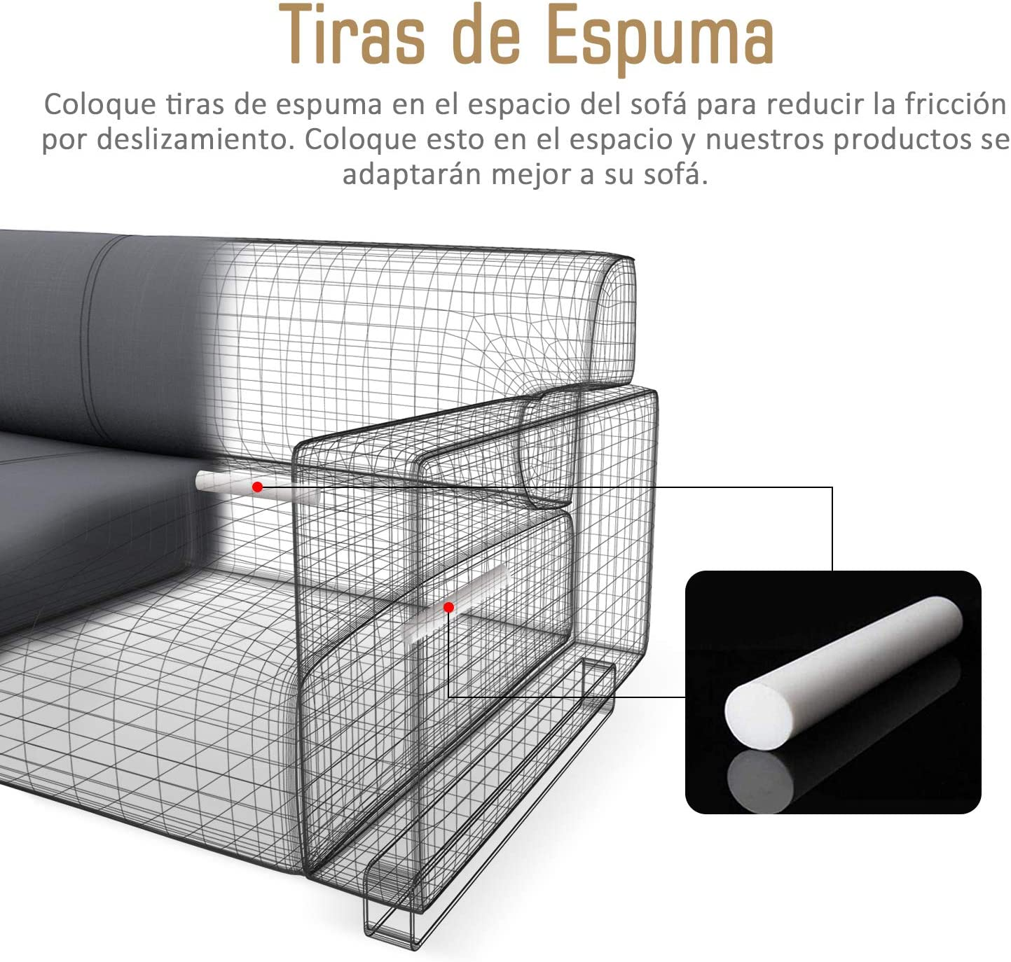 TAOCOCO Funda de Sof/á//Funda de sof/á Antideslizante//Funda de Fof/á El/ástica//Lavable//Anti/ácaros//Antiarrugas Beige//1 Plazas 70-110 CM