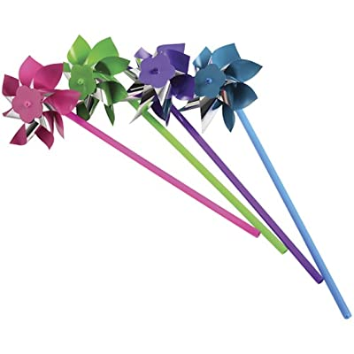U.S. Toy Plastic Pinwheels, Assorted Colors (Lot of 12): Toys & Games [5Bkhe1806778]