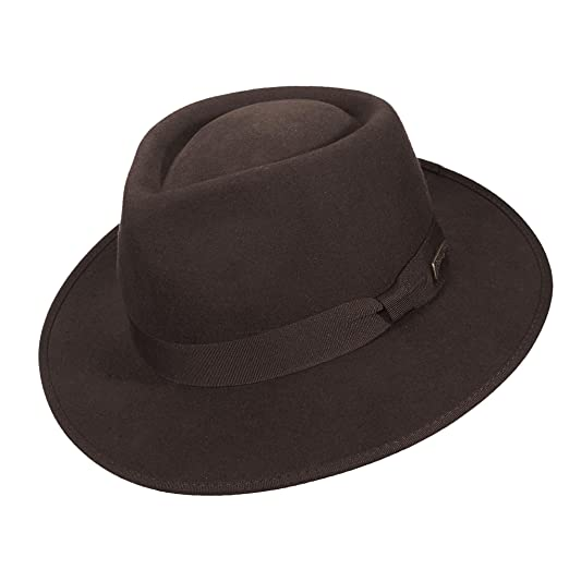 Indiana Jones Men s Wool Felt Fedora Hat at Amazon Men s Clothing store  32ad0da2700f