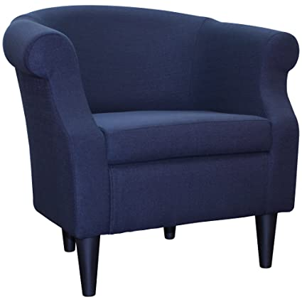 Amazon.com: Upholstered Chair, Barrel Back Armchair, Contemporary ...