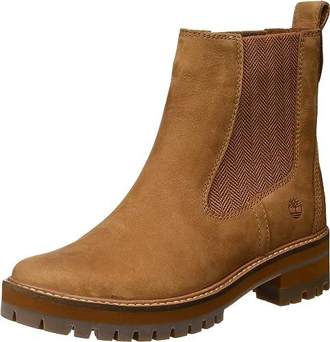 Timberland Damen Courmayeur Valley Chelsea Boots, Schwarz