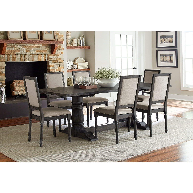 Progressive Furniture Complete Dining Table in Dove Gray