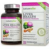 NatureWise Liver Health Premium Formula w/ Milk Thistle, Curcumin & Artichoke, Advanced Protection, Superior Bioavailability, 120-ct